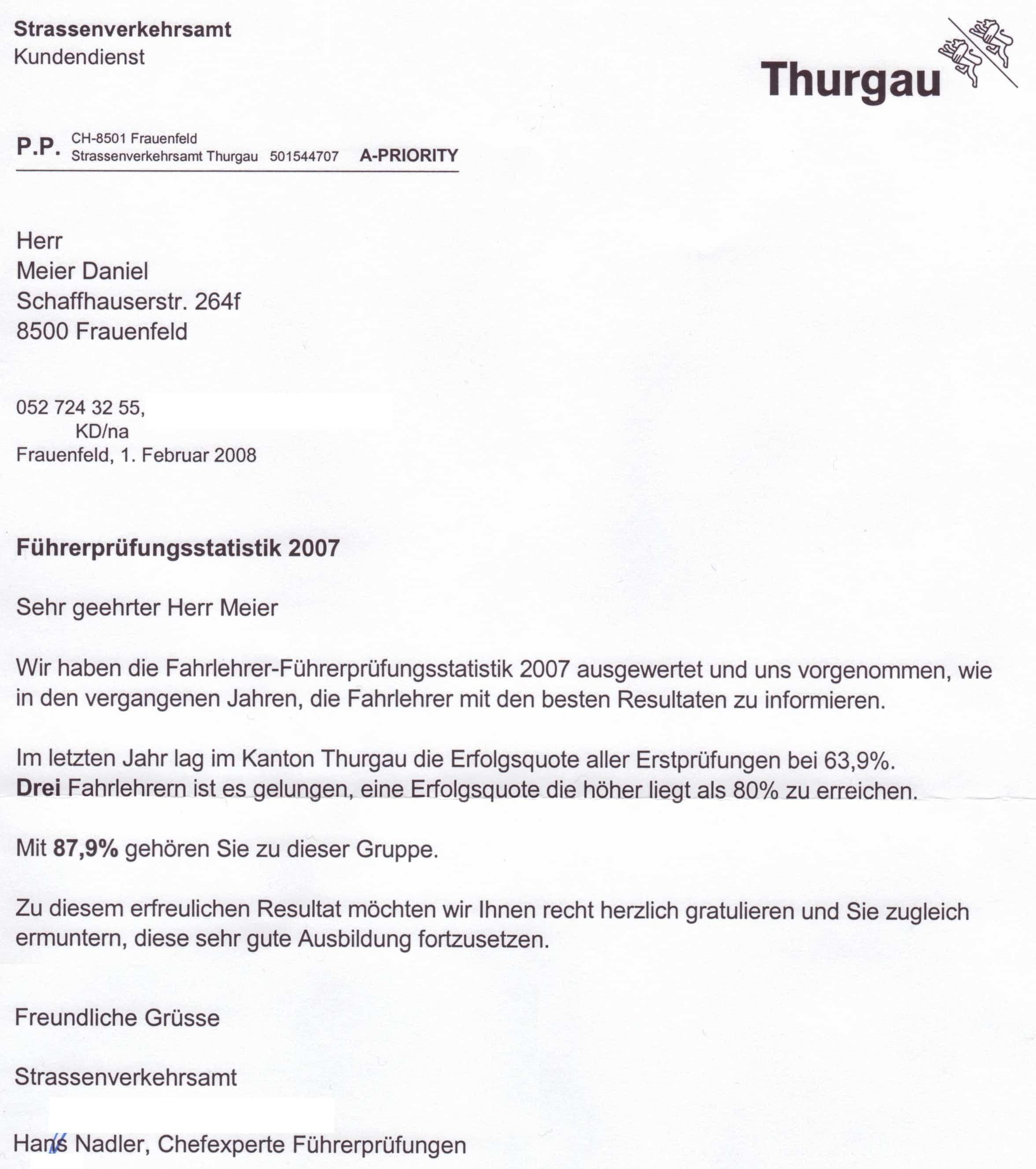 T Prüfungsquote 2007